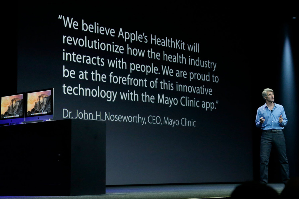 Apple Health, Apple's Craig Federighi speaking