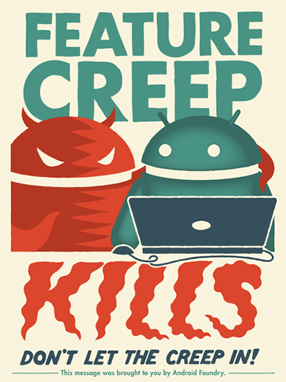 What is feature creep?